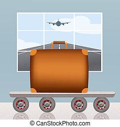 mostrador de equipaje
