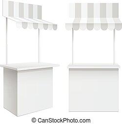 mostrador, estante, venta al por menor, promoción, comercio