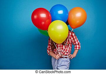 mostrando, balões