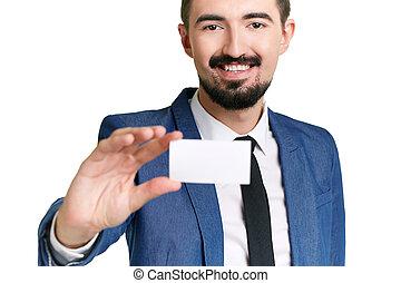 mostrando, cartão