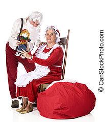 mostrando, trabalho, desligado, Santa