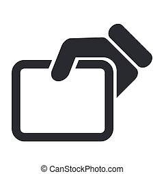 mostrar, isolado, ilustração, único, vetorial, documento, ícone