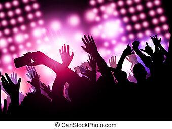 mostrar, tempo, (concert)