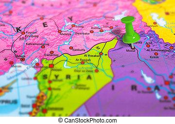 Mosul Iraq map