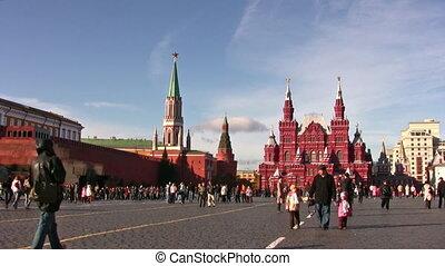 moszkva, oroszország, -, október, 10:, piros egyenesen,...