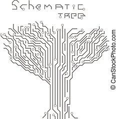 motívum, alakít, fa., bizottság, áramkör