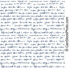 motívum, azonosítatlan, scribble., kézírás, seamless
