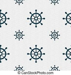 motívum, cégtábla., seamless, vektor, geometriai, vezetés, hajó, texture., ikon