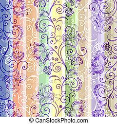 motívum, csíkos, seamless, színes