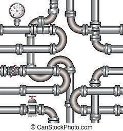 motívum, csővezeték, seamless