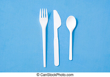 motívum, edények és evőeszközök, eldobható, műanyag