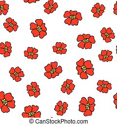 motívum, elvont, menstruáció, seamless, piros
