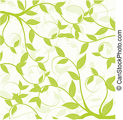 motívum, elvont, seamless, zöld