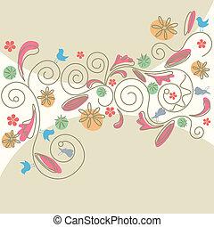 motívum, elvont, virágos