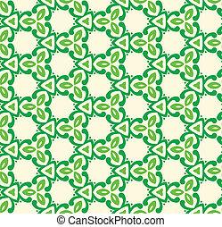 motívum, elvont, zöld, seamless