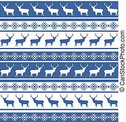 motívum, eps, seamless, deer., 8, karácsony