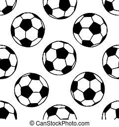 motívum, futball foci, seamless, herék