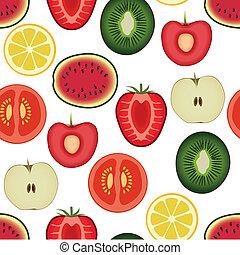 motívum, gyümölcs, seamless