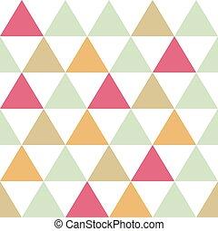 motívum, háttér, seamless, háromszögek