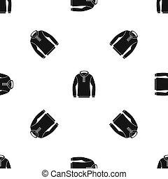 motívum, hoody, fekete, seamless