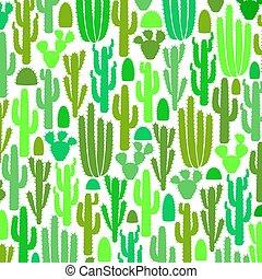 motívum, kaktusz, csoport, háttér, ikonok