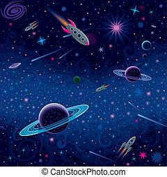 motívum, kozmikus, seamless