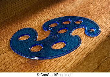 motívum, műanyag, kék