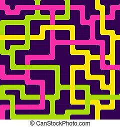 motívum, megvonalaz, seamless, színes, összefonódó