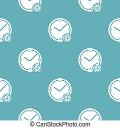 motívum, plusz, idő, kék, seamless