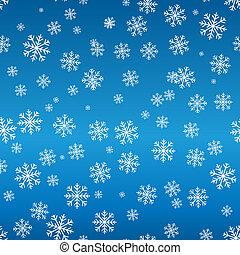 motívum, seamless, hópehely