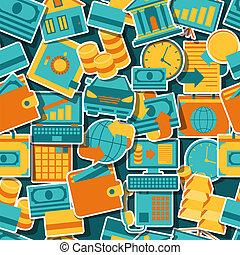 motívum,  seamless, ikonok, bankügylet