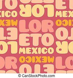 motívum, seamless, loreto, mexikó
