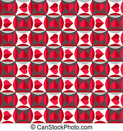 motívum, seamless, piros