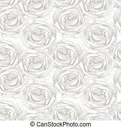 motívum, seamless, rózsa