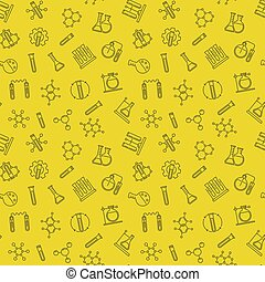 motívum, seamless, sárga, vektor, háttér, egyenes, kémia