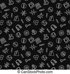 motívum, seamless, sötét, vektor, háttér, kémia