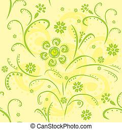 motívum, seamless, zöld
