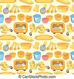 motívum, szerszám, süt, seamless
