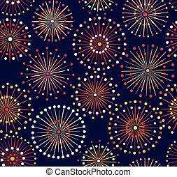 motívum, tűzijáték, seamless