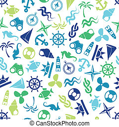motívum, tengeri, seamless