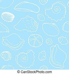 motívum, tengeri, seamless, tenger kihámoz
