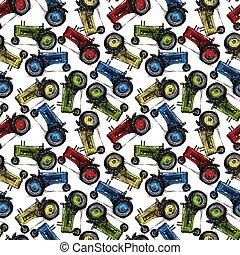 motívum, traktor, retro