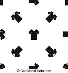 motívum, trikó, fekete, seamless