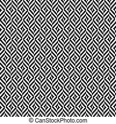 motívum, tweed, fekete, rombusz, fehér, seamless