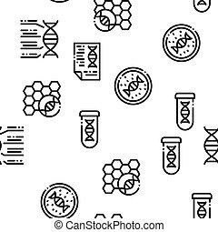 motívum, vektor, biomaterials, seamless