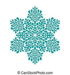 motívum, vektor, hópihe, tél