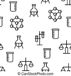 motívum, vektor, seamless, alapismeretek, kémia