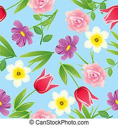 motívum, virág, seamless