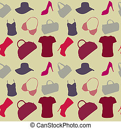 motívum, women's, seamless, segédszervek