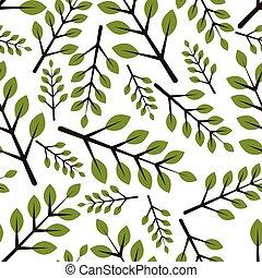 motívum, zöld, seamless